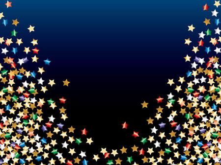 abstract illustration with colorful confetti stars Stock Vector - 7715443