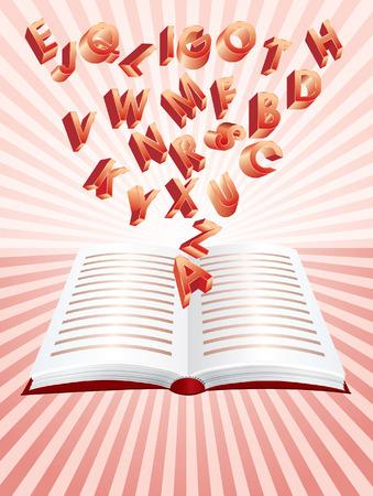 poezie: vliegende alfabet uit magische boek