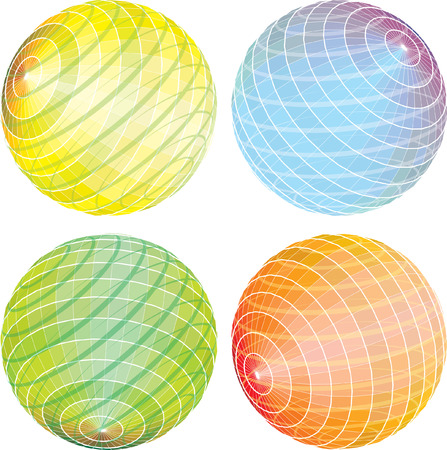 abstract spheres in rotation  Vector