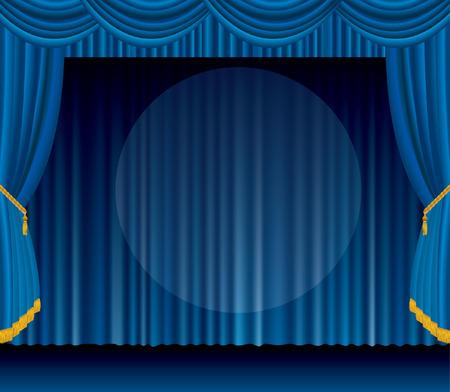 luz focal: escenario azul con gran luz focal transparente