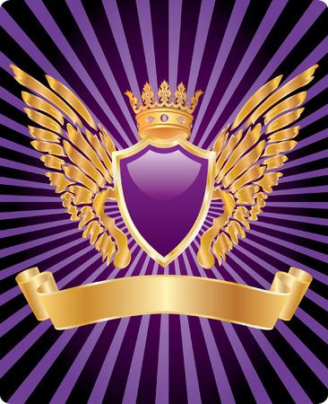 escudo de armas: etiqueta con elementos medievales para diversos productos  Vectores