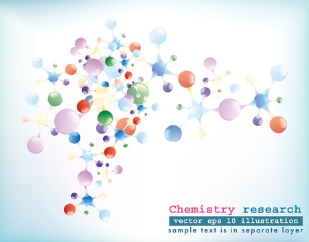 abstract  background with molecules  Vector