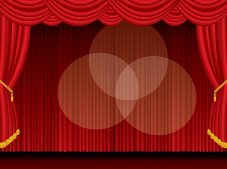 empty stage with three spotlights Stock Vector - 7801144