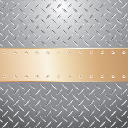 illustration of the golden plate with blank space for text Stock Vector - 7811855