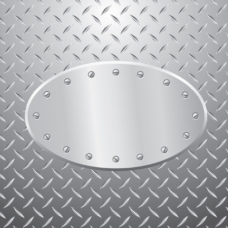 illustration of the blank oval metal plate with space for text or illustration Stock Vector - 7811853