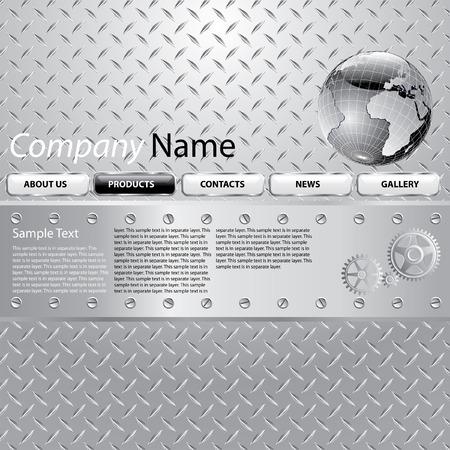metal net: dise�o para el sitio de web de la empresa industrial, texto de muestra que se encuentra en la capa independiente