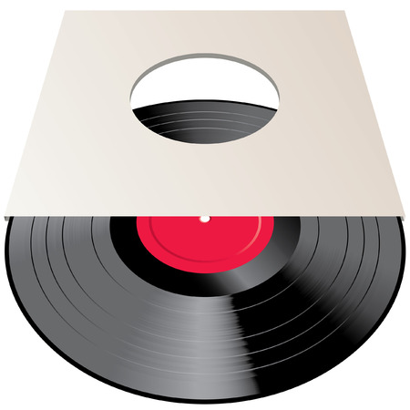 vintage vinyl record in blank paper cover Vector