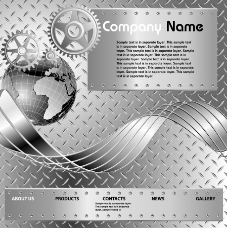 layout for industrial web site Stock Vector - 7825751
