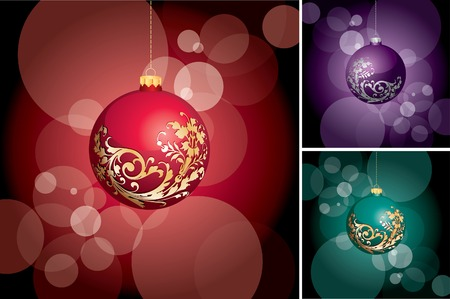 holiday layout in three color variations  Vector
