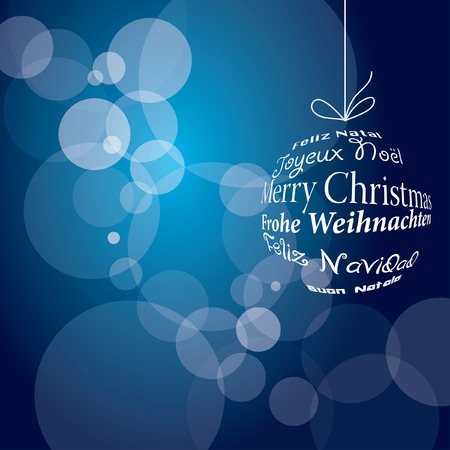 blue christmas background Stock Vector - 7913666
