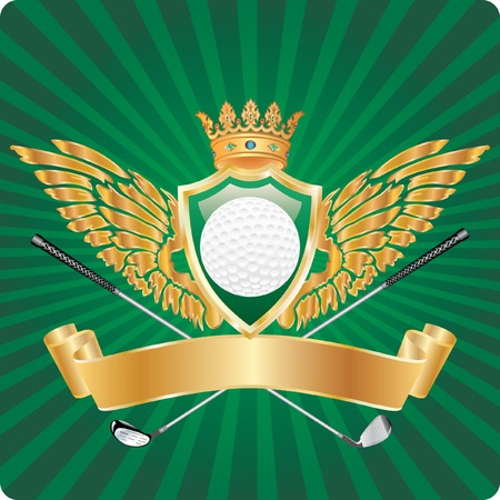 golden golf award Vector