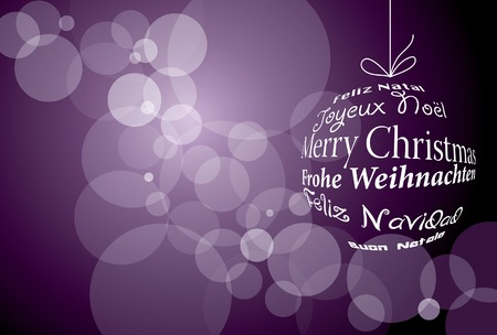 spot the difference:   violet Christmas background  Illustration
