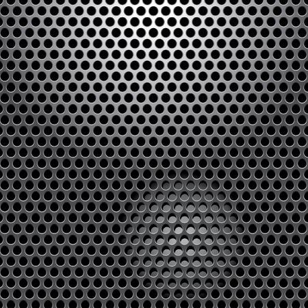 perforado de chapa con luz focal  Ilustración de vector