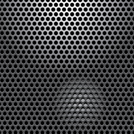 perforated:   perforated metal plate with spot light