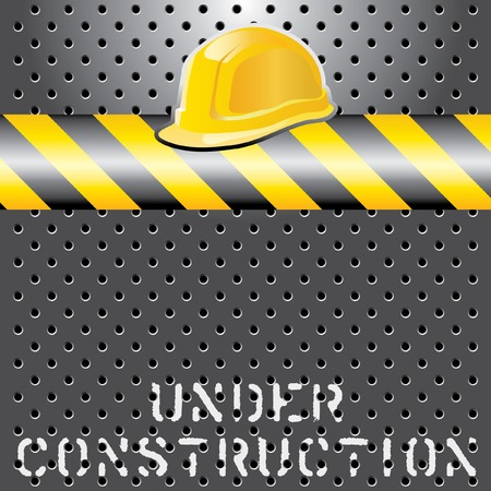 under construction layout, layered and fully editable Vector