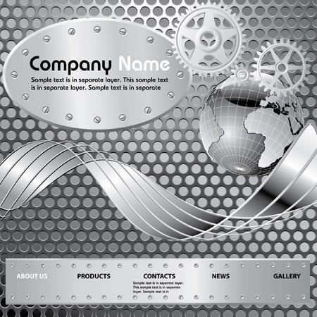 site web:   layout per il sito industriale