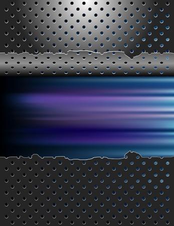 malla metalica: Fondo de color borrosa con chapa da�ada