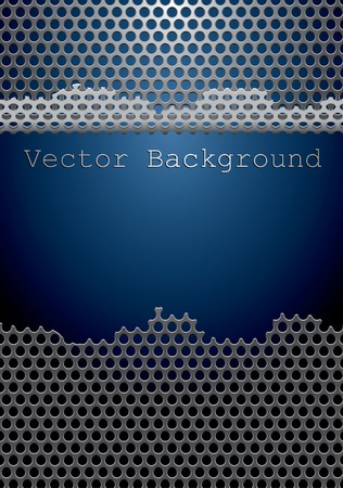 template with damaged perforated metal plate Vector