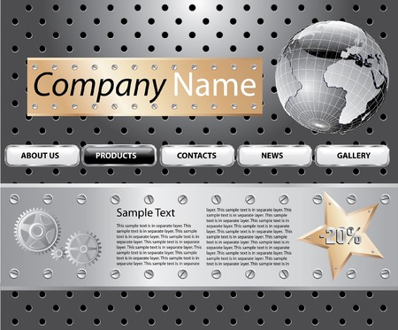 worldwide website:   template design of the web site, or something else Illustration
