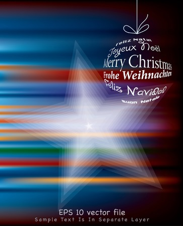 blurry christmas background  Vector