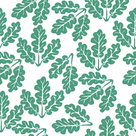 repeating seamless pattern with oak leaves Vector
