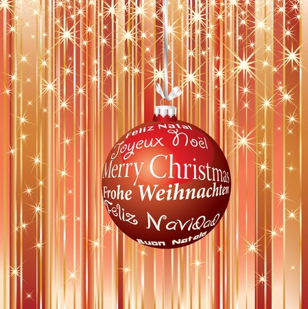 red stripped christmas background Vector