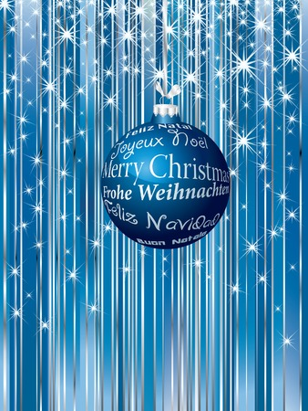 Christmas background with greeting in six languages Vector