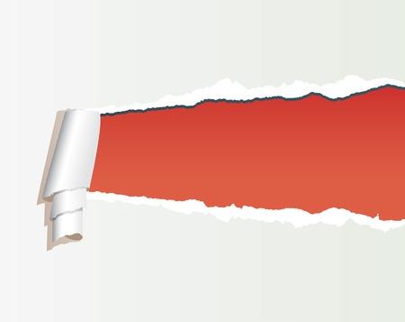 deterioration:  illustration of the torn paper Illustration