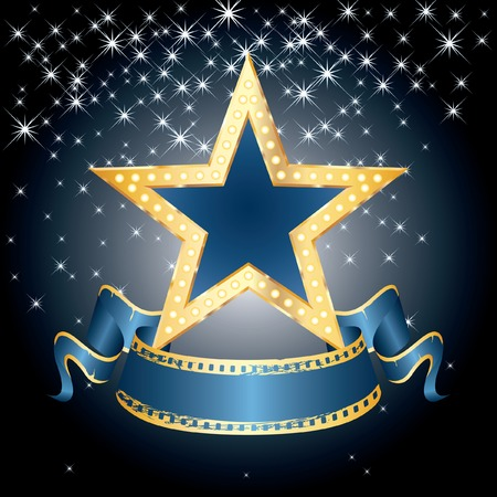 marquee sign:   grande stella blu la notte stellata