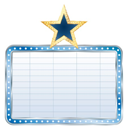 blue blank billboard with star Vector
