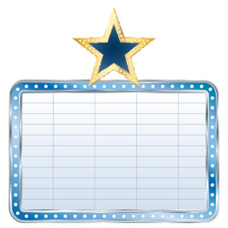 blue blank billboard with star Stock Vector - 8129480
