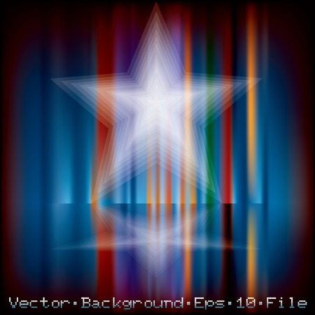 abstract holidays background with blurry star  Vector