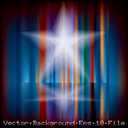 arrière-plan de vacances abstraite avec étoile floue