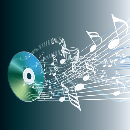 compact disk:  illustration of the audio compact disc