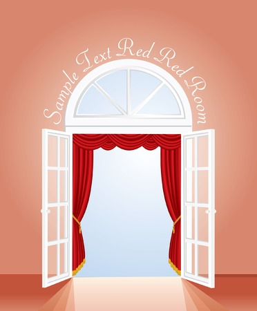 red room, lower blue sky layer is for  your image  Vector