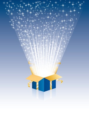 illustration with magic gift box  Vector