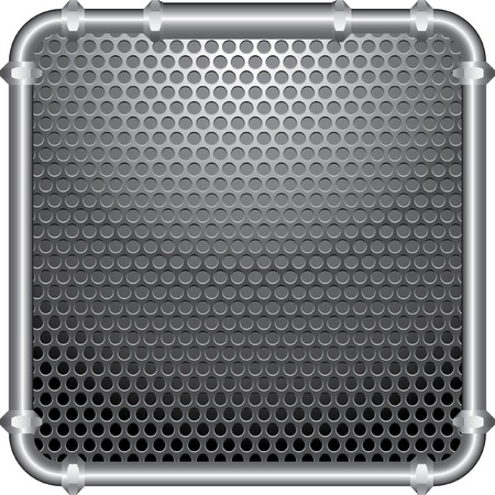 perforated plate with frame of the metal pipes Vector