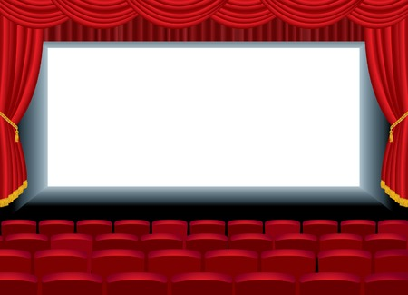 free image:  illustration of the empty cinema with free bottom layer for your image Illustration
