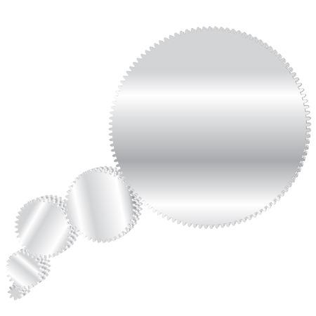 vector illustration with gears like cartoon speech cloud Vector