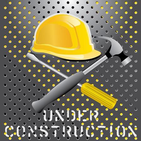 industrial safety:  Ilustraci�n con conductor, martillo y casco Vectores