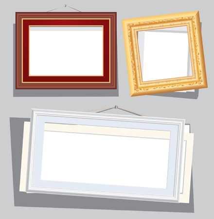 wry:   illustration of the empty broken frames