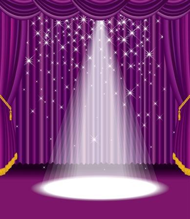 spotlights:  etapa p�rpura con falling estrellas
