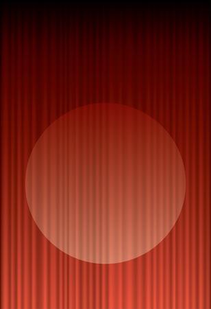 b�hnenvorhang:   Red Stage Vorhang mit spot-Licht