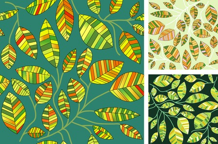three  variations of the seamless repeating wallpaper Vector