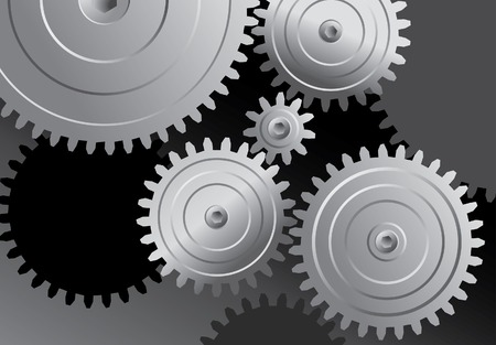 rueda dentada:  Fondo abstracto con metales gears Vectores