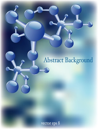 vector abstract chemistry background with sample text in separate layer Vector
