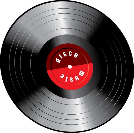 vector realistic illustration of the LP vinyl record Stock Vector - 8846338