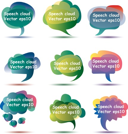 abstract speech clouds with sample text in separate layer Vector
