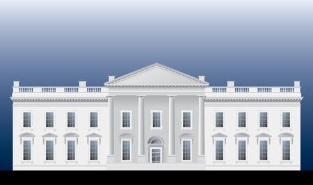 detaillierte Vektor-Zeichenprogramm von der Fassade des Weißen Hauses Vektorgrafik