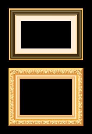 two vector baroque golden blank frames Vector